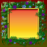 Dark tropic frame Royalty Free Stock Photos