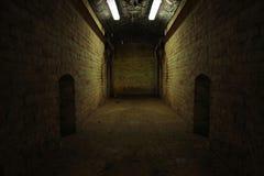 Dark tunnel. Photo of a dark tunnel Stock Photo