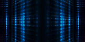 Free Dark Tunnel, Corridor, Room With Smoke, Neon Light, Red And Blue Neon. Royalty Free Stock Image - 143453496