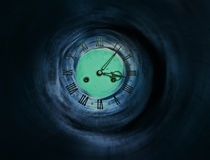 Tunnel to the clock of life Stock Images