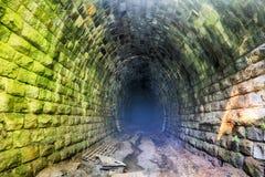 Dark Tunnel  - nobody. Dark Tunnel with mass - nobody Royalty Free Stock Photos