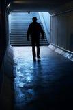 Into the dark Tunnel Stock Photos