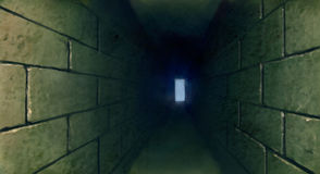 Dark tunnel underground illustration Stock Images