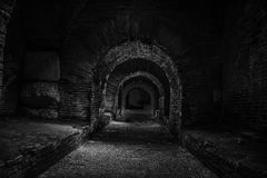 In the dark tunnel Stock Images