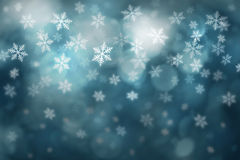 Dark turquoise blue winter snowflake background Royalty Free Stock Images