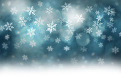 Dark turquoise blue Xmas snowflake copy space Stock Image