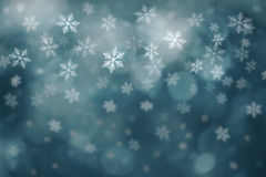 Dark turquoise color abstract snowflake Christmas background Stock Photos