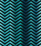 Dark turquoise gradient chevron seamless pattern. Abstract chevron seamless pattern. Retro vector background Stock Images