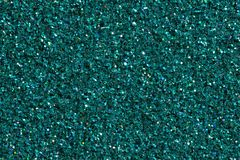 Dark Turquoise Shining Background With Glitter.