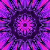 Abstract dark ultra violet mandala background design effect shining star tile. Dark ultra violet mandala background design effect shining star tile Stock Photography