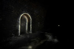 Dark Underground Tunnel refuge Royalty Free Stock Photography