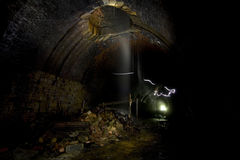 Dark Underground Tunnels Stock Photo