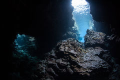 Dark Underwater Cave Royalty Free Stock Image