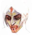 Dark Vampire. Illustration of coloured pencil - Dark Vampire stock illustration