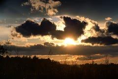 Dark van de zonsondergangwolk Stock Fotografie