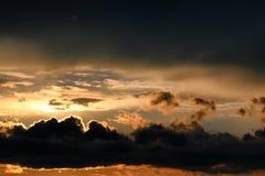 Dark van de zonsondergangwolk Royalty-vrije Stock Fotografie