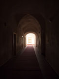 Dark vaulted hallway Royalty Free Stock Image