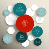 Dark Vector abstract circles infographic template Royalty Free Stock Photo