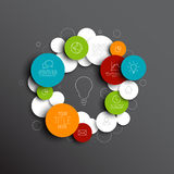 Dark Vector abstract circles infographic template Royalty Free Stock Images