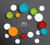 Dark Vector abstract circles infographic template Stock Photography