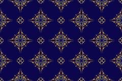 Dark vector blue seamless geometric texture. Vector dark blue seamless geometric texture Royalty Free Stock Image