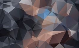 Dark vector blurry triangle background design. Geometric backgro Stock Photos
