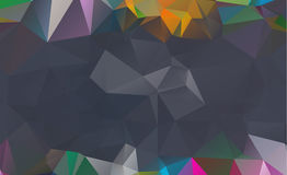 Dark vector blurry triangle background design. Geometric backgro. Und in Origami style with gradient royalty free illustration