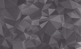 Dark vector blurry triangle background design. Geometric backgro Stock Photography