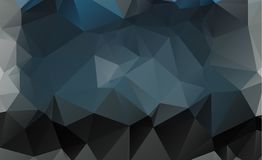 Dark vector blurry triangle background design. Geometric backgro. Und in Origami style with gradient stock illustration
