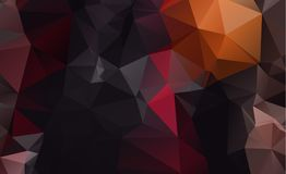 Dark vector blurry triangle background design. Geometric. Background in Origami style with gradient stock illustration