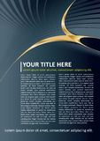 Dark Vector Brochure and Poster Background Stock Photography