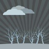 Dark vector landscape Royalty Free Stock Image