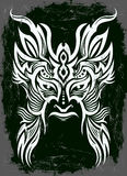Dark Vector mask - tribal - tattoo Stock Photos
