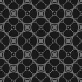Dark vector seamless pattern in black and gray colors. Rounded grid, lattice, mesh, net. Dark vector seamless pattern in black and gray colors. Abstract Stock Photography