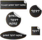 Dark vector stickers Royalty Free Stock Photography