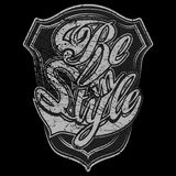 Dark version of Be in Style print. For apparel and other merchandise royalty free illustration