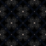 Dark victorian floor cerimic tiled pattern Royalty Free Stock Image