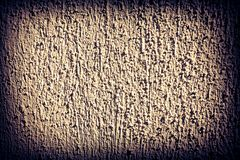 Dark vignette frame and coarse cement facade structure background. Texture royalty free stock photos