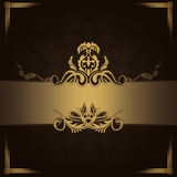 Dark vintage background with decorative border. Stock Images