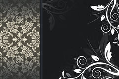 Dark vintage background with floral patterns. Stock Photos