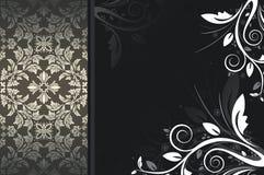 Dark vintage background with floral patterns. stock photos