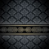 Dark vintage background with ornamental border. royalty free stock image