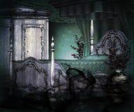 Dark Vintage Room Background. Dark Vintage Luxury Room Background vector illustration