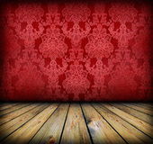 Dark vintage red room Stock Image