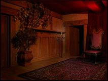 Dark vintage room Stock Images