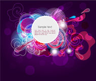 Dark violet banner Stock Photos