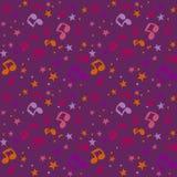Dark violet  notes Stock Photos