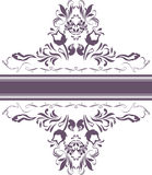 Dark violet ornamental element for decor isolated on the white Stock Photography
