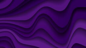 Dark violet paper waves abstract motion design