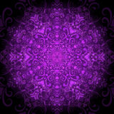 Dark violet round pattern Stock Photography